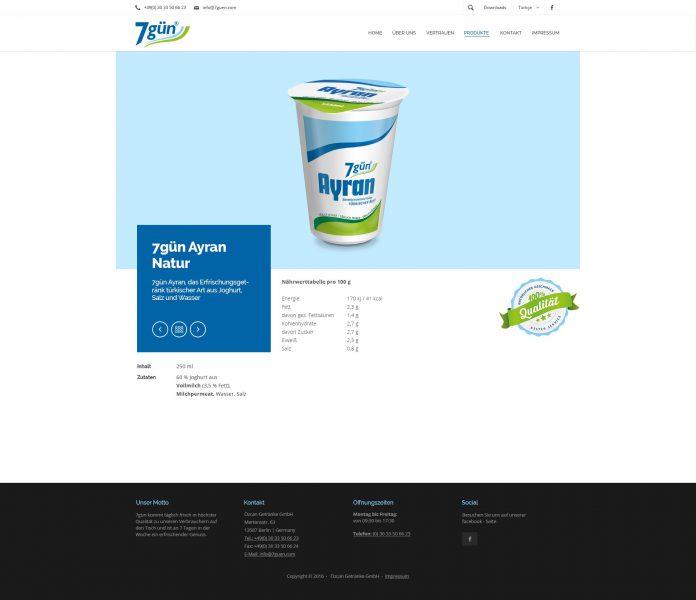 7gün - Website, Produktdetail