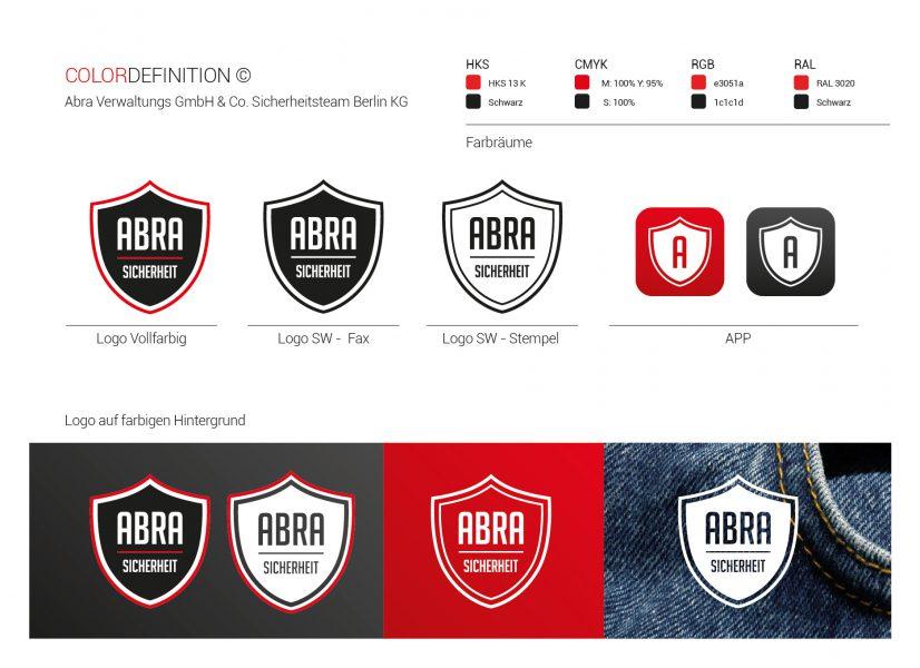 ABRA - Logo und Farbdefinition