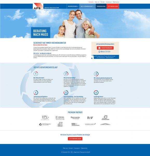 AFS - Website Entwurf komplett