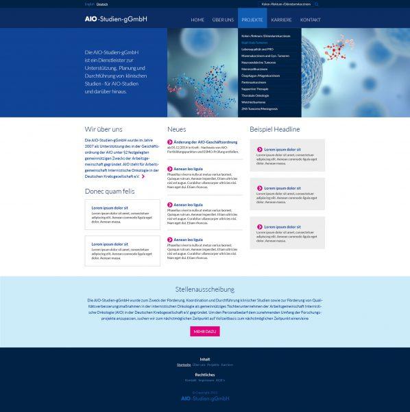AIO - Homepage Entwurf komplett