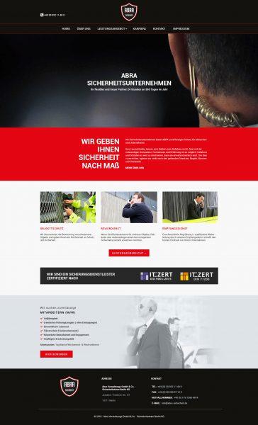 ABRA - Website Entwurf komplett