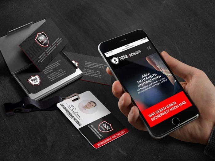 ABRA - Website, Visitenkarte, Security Card