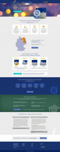 Aqua Energy Plus - Homepage Entwurf komplett