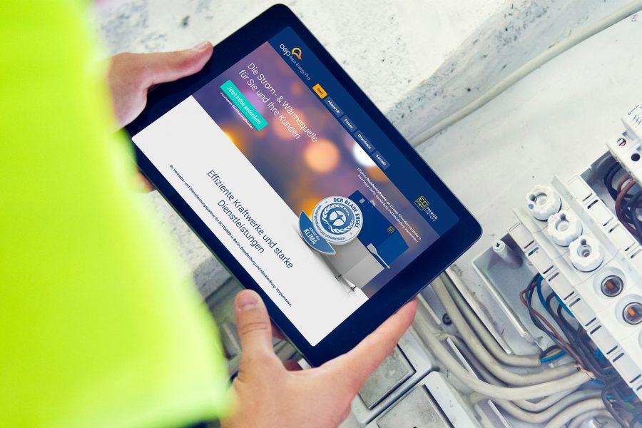 Aqua Energy Plus - Website Tablet