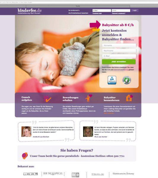 Kinderfee - vorherige Website