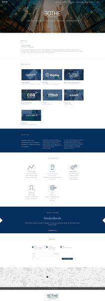Bothe Ventures - Website Entwurf komplett