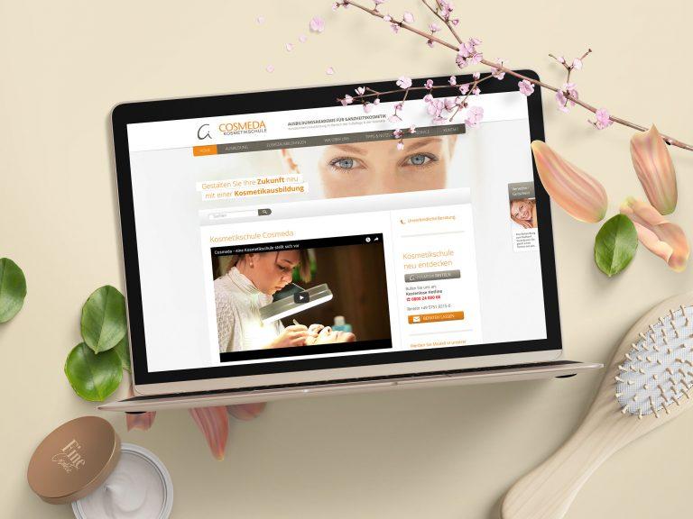 Kosmetikakademie Cosmeda Website