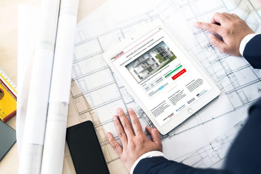 Engel & Völkers Digital Invest - Projektkachel Tablet Ansicht