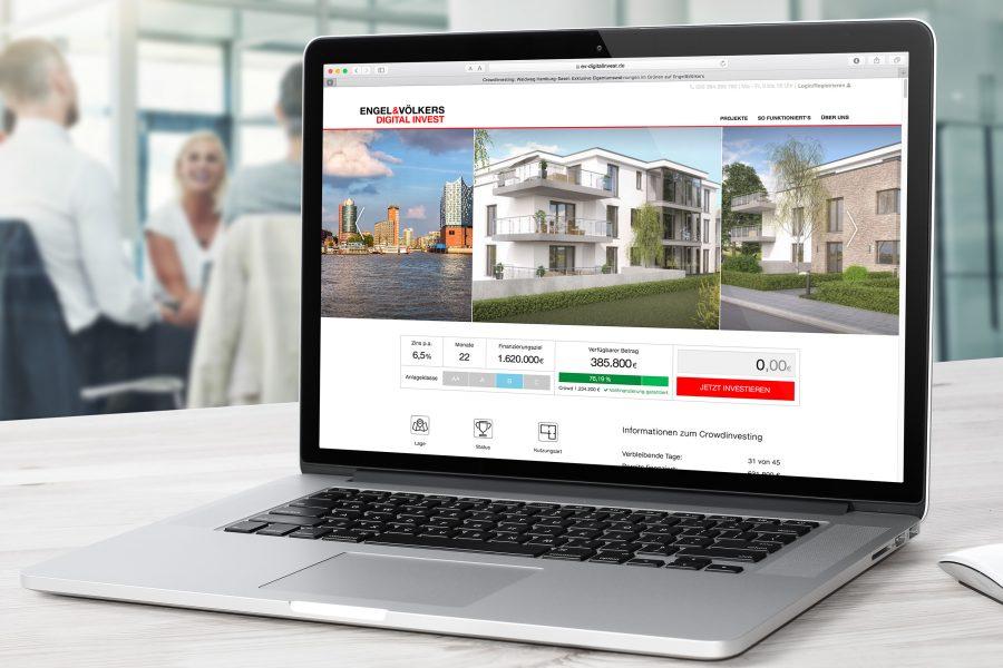 Engel & Völkers Digital Invest - Projektdetailseite Desktop Ansicht