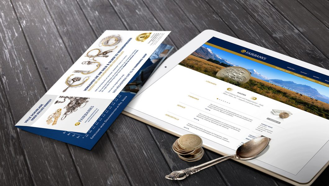 Fairbanks - Website Tablet, Flyer