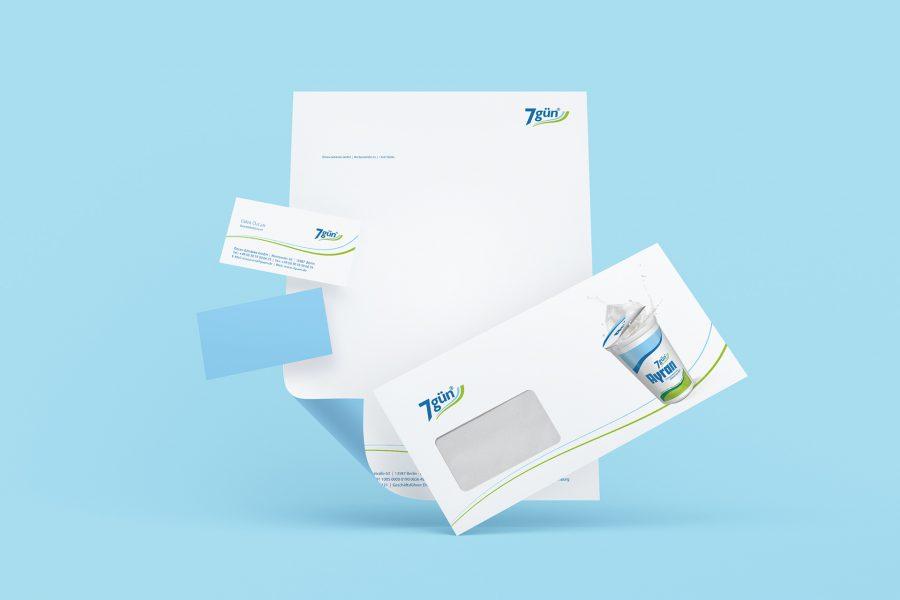 7gün - Visitenkarten, Briefbögen, Briefumschläge