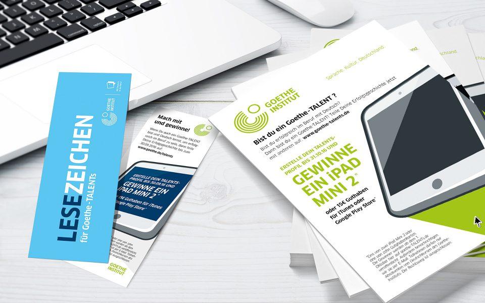 Goethe-TALENTs - Lesezeichen und Flyer