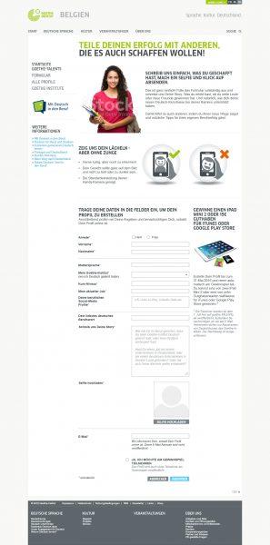Goethe-TALENTs -Landingpage Formular