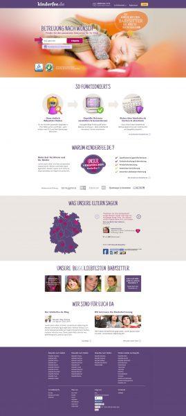 Kinderfee - Website Relaunch