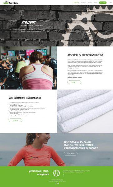 Rideberlin - Website, Konzept