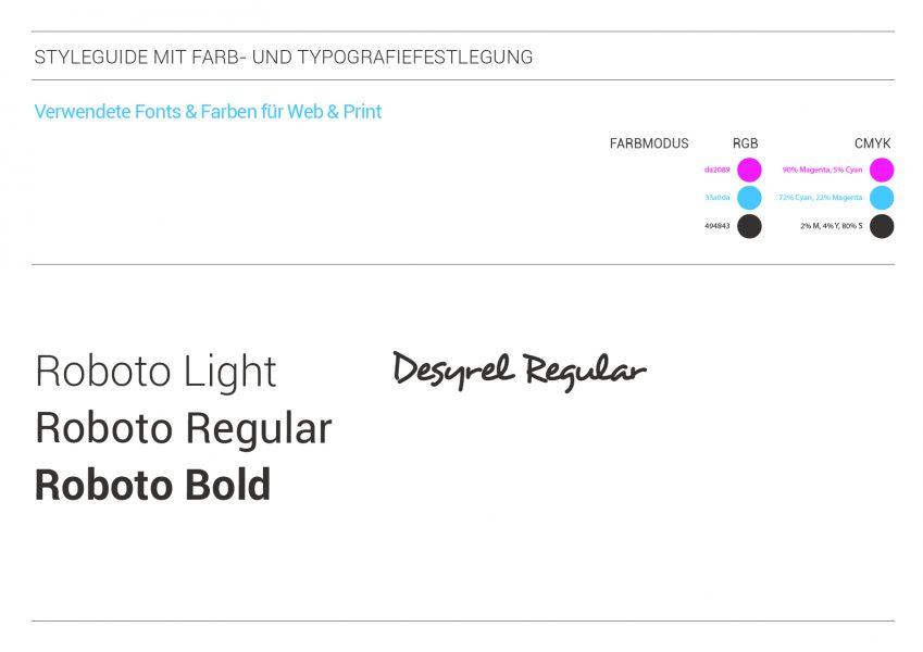 PatientenverfügungPlus - Styleguide mit Farb- und Typografiefestlegung 2