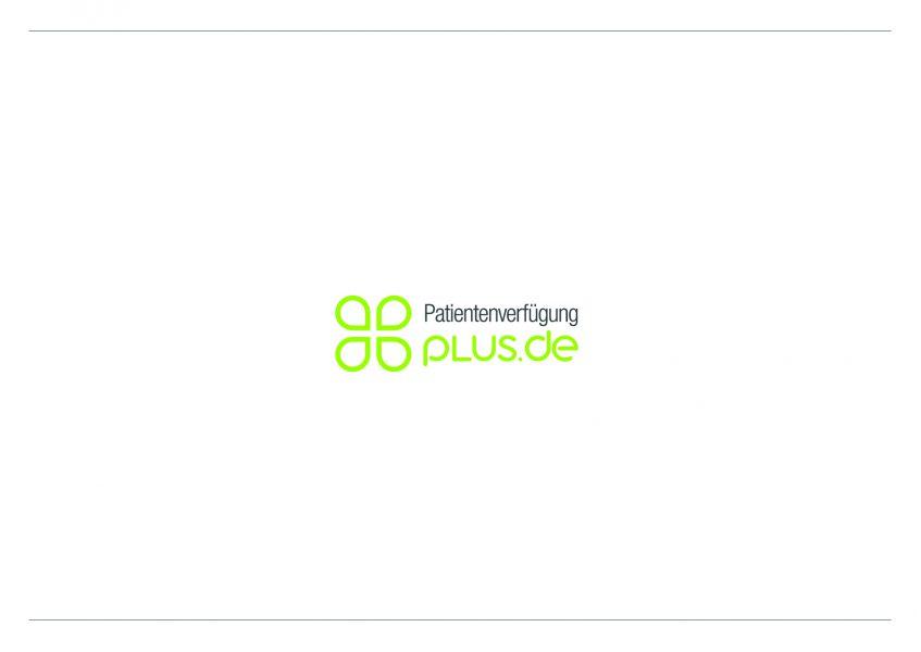 PatientenverfügungPlus - Logoentwurf 3