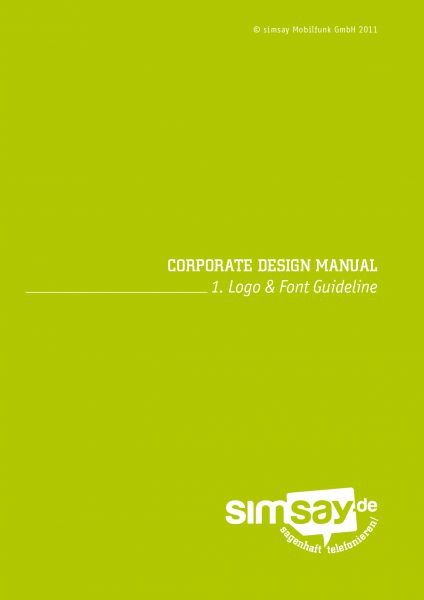 Simsay - Corporate Design Manual 1