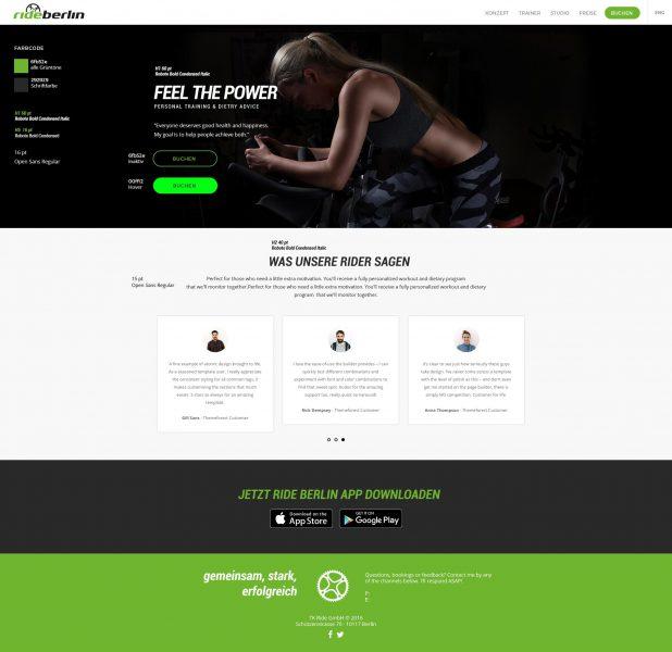 Rideberlin - Website Styleguide