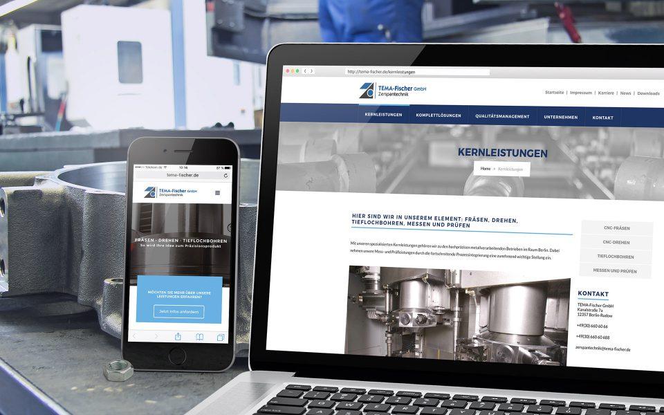 Tema-Fischer - Website, Smartphone