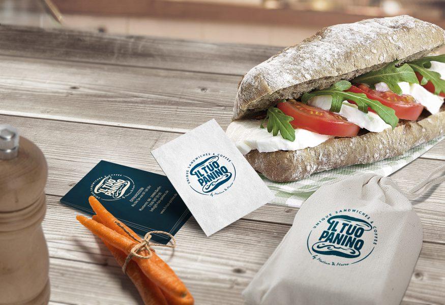 Il Tuo Panino - Visitenkarte, Sandwich-Verpackung