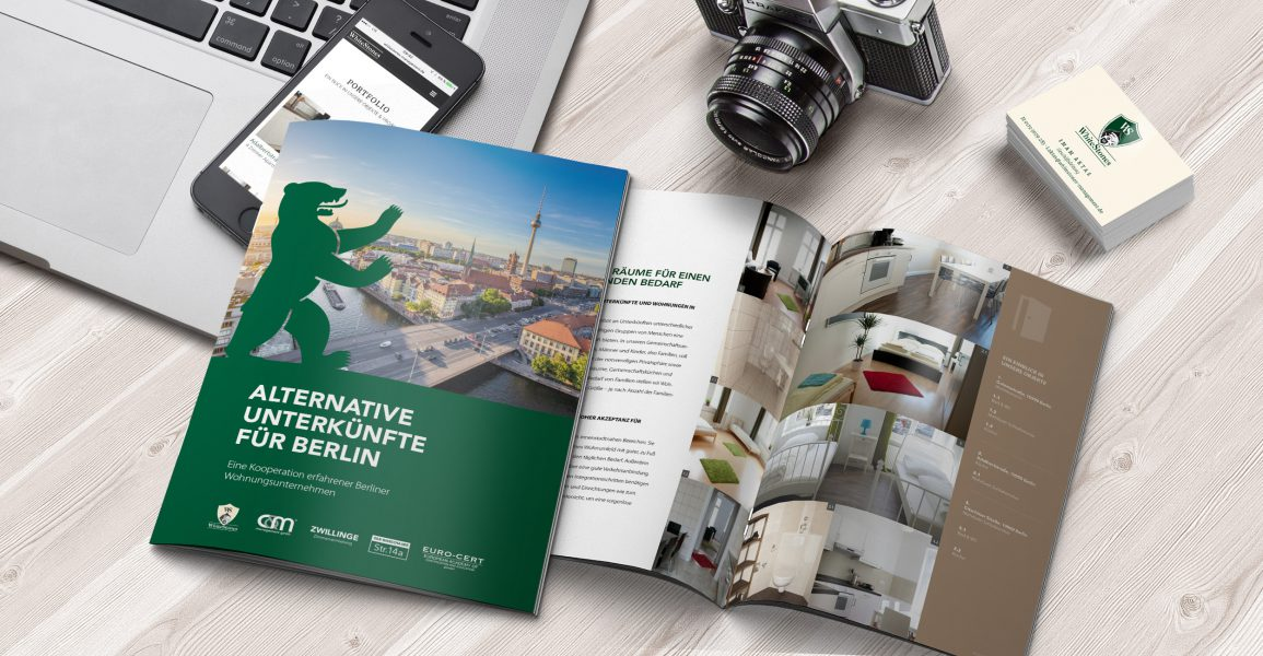 Whitestones - Broschüre, Visitenkarten