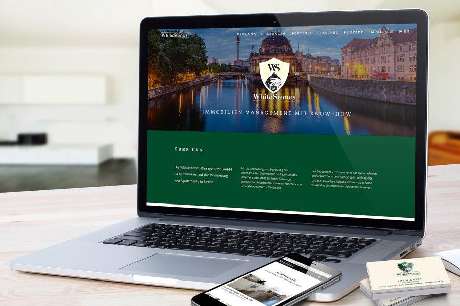 Whitestones - Website, Smartphone