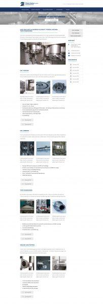 Tema-Fischer - Website, Kernleistungen