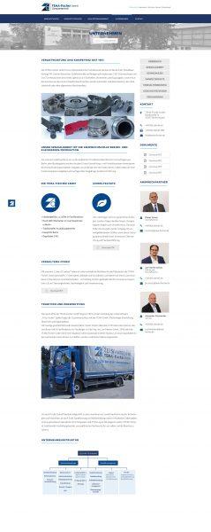 Tema-Fischer - Website, Unternehmen