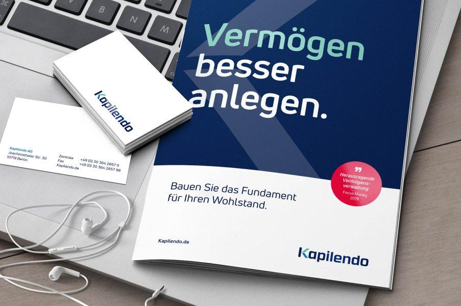 Unternehmensbroschüre DIN A5 und Visitenkarten
