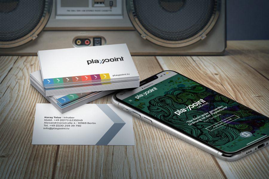 playpoint Visitenkarten & Website Mobile