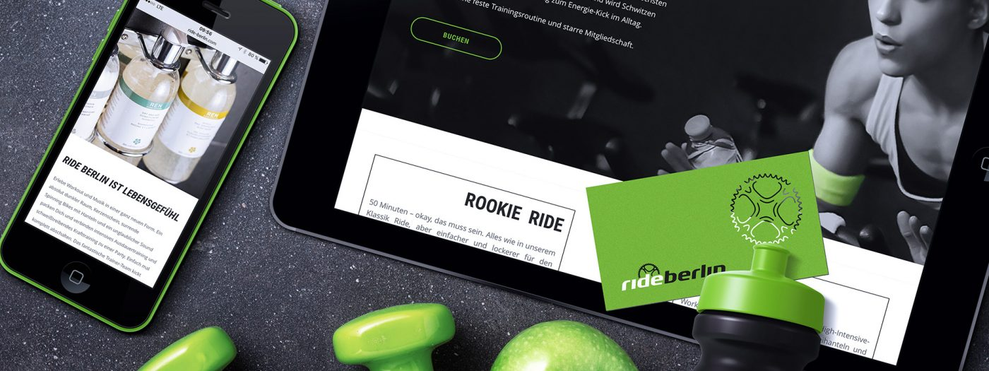 Rideberlin - Website Smartphone, Tablet, Visitenkarten,