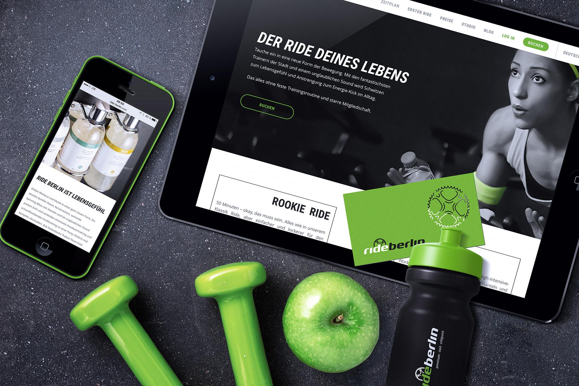 Rideberlin - Website Smartphone, Tablet, Visitenkarten,