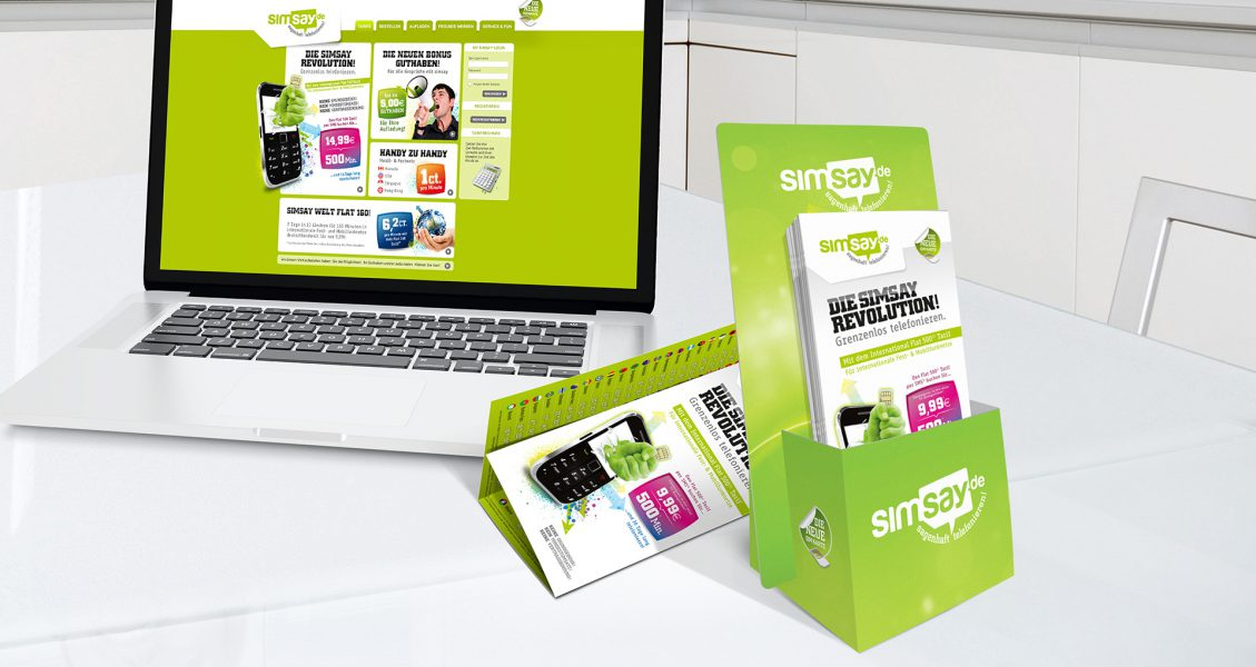 simsay - Website, Flyer, Flyerbox