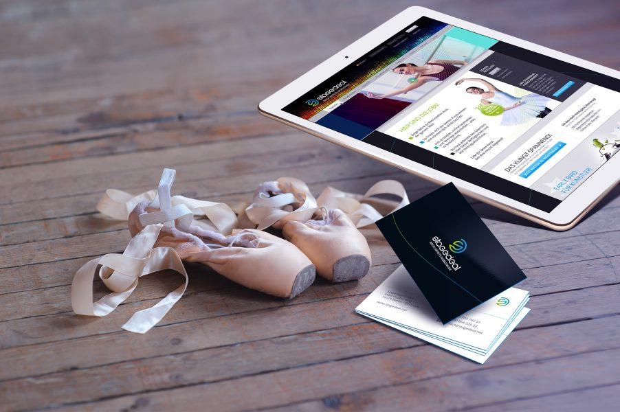 stagedeal - Visitenkarte, Website Tablet